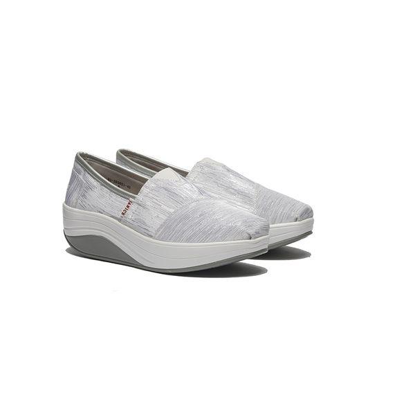 JANICE-流線線型布面休閒鞋352021-45銀