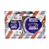深藍豬 REUZEL 強力纖維級水性髮泥禮盒組 (35g+113g)【岡山真愛香水化妝品批發館】