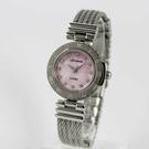 【萬年鐘錶】 LICORNE entree   高貴優雅晶鑽女腕錶  銀x粉紅  LT066LWPS
