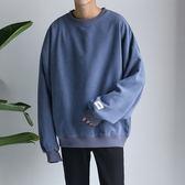 秋裝純色圓領套頭衛衣 休閒情侶裝長袖T恤【非凡上品】cx678
