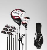 高爾夫球桿 男士套桿 初學練習桿套裝【套裝二9支鋼桿身送球袋】材質新升級!