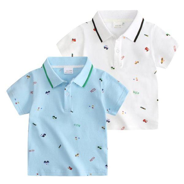男童短袖棉質T恤 2019夏季新品男童POLO衫 短袖兒童夏季半袖潮短袖T
