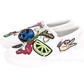 MARC JACOBS Mercer 多元素補丁裝飾厚底便鞋(白色) 1711113-20