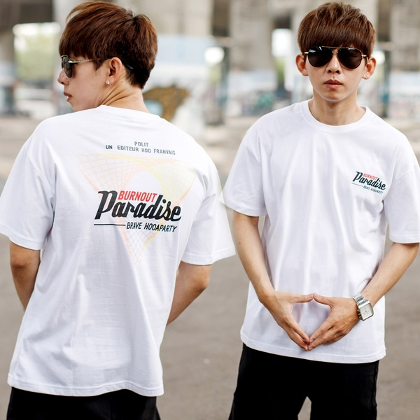 T恤 Paradise漸層彩色網紋短T【NB1033J】