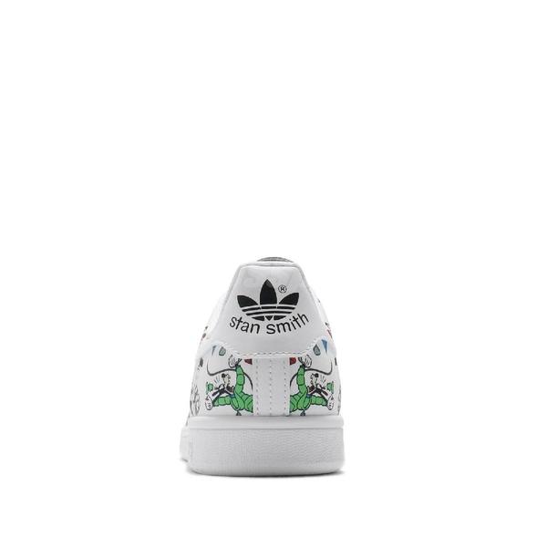 adidas 休閒鞋 Stan Smith 白 黑 男鞋 高飛 Goofy 聯名 迪士尼 基本款 【ACS】 FZ0061