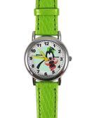 【卡漫城】 高飛狗 皮革 手錶 蘋果綠 大臉 最後一支 ㊣版 Goofy 女錶 兒童 手錶 卡通錶 男錶 高飛