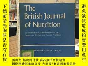 二手書博民逛書店The罕見British Journal of Nutrition(Vol,41 NO.3 May1979)英國營
