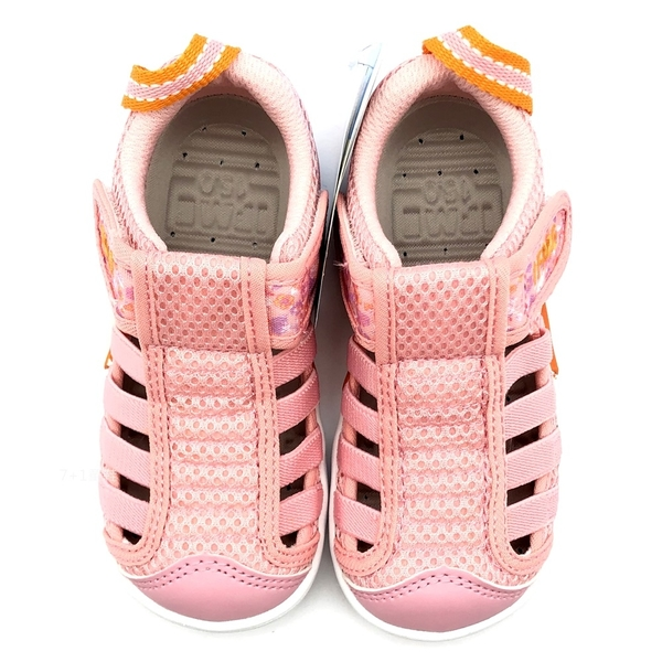 《7+1童鞋》中童 日本 IFME 透氣 魔鬼氈 排水孔 輕量  機能 水涼鞋 C478  粉色