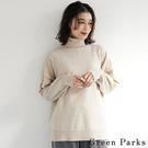 「Winter」百搭高領素面針織上衣 - Green Parks
