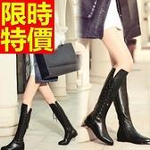 過膝馬靴-大方修腿皮革女長靴2色62l2【巴黎精品】