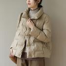 90%白鴨絨輕薄羽絨服 立領保暖寬鬆長袖外套/3色-夢想家-0115