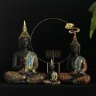 廳酒柜禪意東南亞裝飾樹脂泰國佛像車載小擺件裝飾品工藝品 卡卡西YYJ