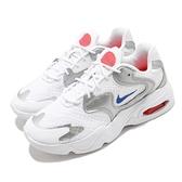 Nike 休閒鞋 Wmns Air Max 2X 白 銀 女鞋 復古慢跑鞋 氣墊 運動鞋 【ACS】 CK2947-102