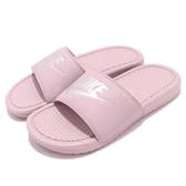 Nike 拖鞋 Wmns Benassi JDI 粉紅 銀 粉粉DER 涼拖鞋 女鞋 GD拖【PUMP306】 343881-614