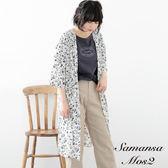❖ Hot item ❖ 滿版印花喬其紗長版襯衫外套/罩衫 (提醒➯SM2僅單一尺寸) - Sm2