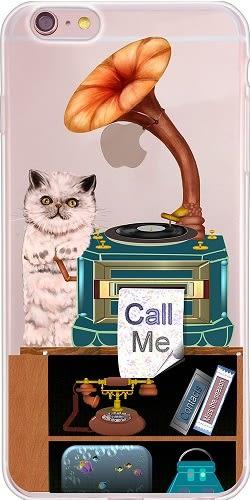 設計師版權【貓臉的歲月  Call me】系列:TPU手機保護殼(Samsung、OPPO)