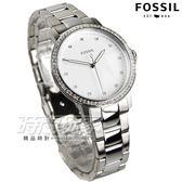 FOSSIL Neely 名媛魅力晶鑽時標女錶 不銹鋼 防水手錶 精品 銀 ES4287