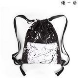 黑白印花抽繩包紋理束口袋防水運動包【YYJ-4921】