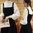 背帶褲 20秋冬新款冬季連衣裙女針織毛衣洋氣學生背帶裙兩件套 伊莎公主