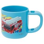 小禮堂 Tomica多美小汽車 單耳塑膠牙刷杯 180ml (藍消防車款) 4973307-47066
