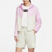 Y- NIKE Sportswear Windrunner 粉白 外套 透氣 舒適 拼接 女款 連帽 BV3940-676