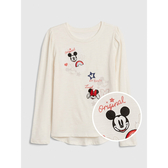 Gap女童GapxDisney迪士尼系列棉質圓領套頭T恤520393-象牙白