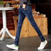 牛仔褲春夏新款牛仔褲男彈力修身小腳褲青年男士韓版潮流學生褲子男薄款