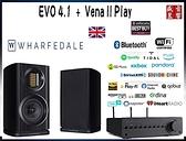 門市有現貨 - 英國 Wharfedale EVO 4.1 喇叭 + 英國 QUAD Vena II PLAY 無線串流擴大機 - 公司貨