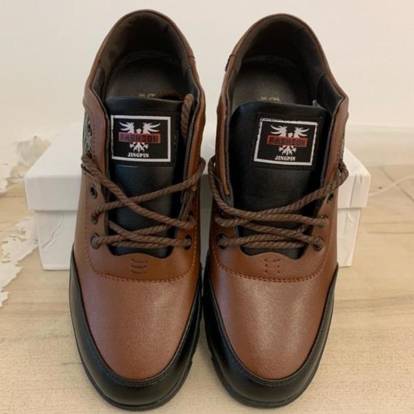 厚底懶人鞋潮款皮鞋休閒鞋(24.5號/778-338)