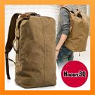大容量休閒包軍旅包後背包素色包輕便簡單登山健行必背包-黑/棕【AAA3887】預購