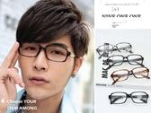 百搭中性方框平光眼鏡附眼鏡盒抗UV400【ob825】*911 SHOP*