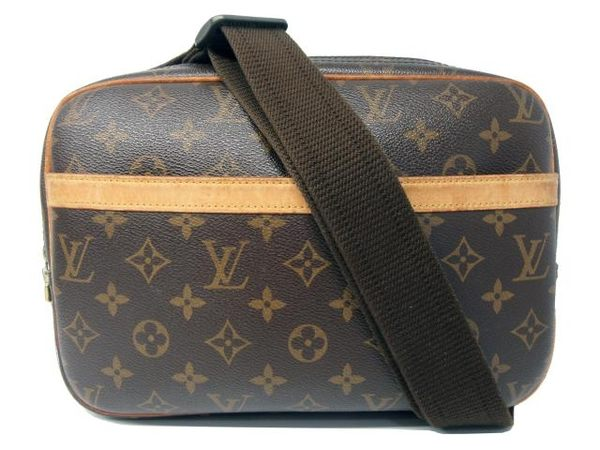 LV LOUIS VUITTON 路易威登 原花斜背記者包 Reporter PM M45254【BRAND OFF】
