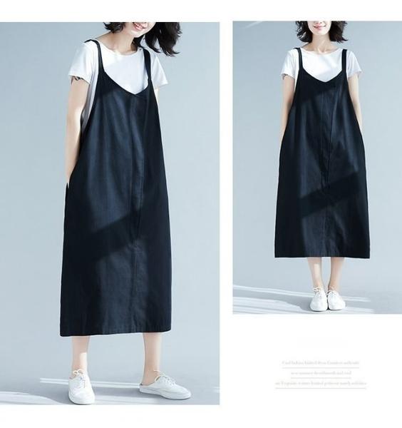漂亮小媽咪 背心洋裝 【D8801】 純色 背心裙 背心長裙 吊帶裙 孕婦裝 孕婦洋裝