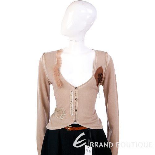 Lorella Braglia 粉耦色胸花飾小外套 0510308-05