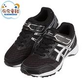 《布布童鞋》asics亞瑟士LAZERBEAM黑銀色兒童機能運動鞋(19~24公分) [ J1I088Q ]