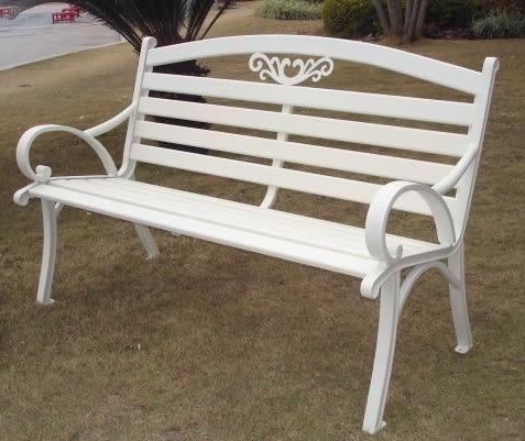 【南洋風休閒傢俱】公園桌椅系列 - 4.3尺鋁條公園椅 鋁合金公園椅 騎樓等待椅 戶外公園椅(A38A02)