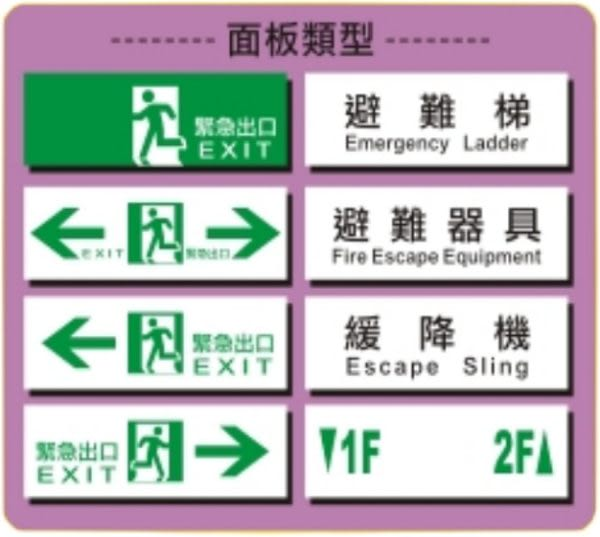 消防 監控 音響 批發中心 小型LED緊急出口燈.SH-123CSAR-EX.緊急照明燈 滅火器代客更換電池免工資