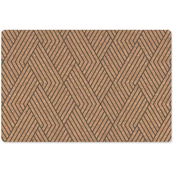 【葡萄牙Amorim】KORKO軟木餐墊(灰條紋)4入組