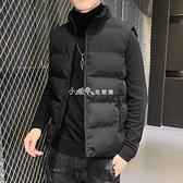 棉馬甲男士韓版潮流青少年馬甲背心冬季高初中生學生保暖坎肩外套