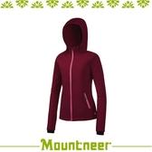 【Mountneer 山林 女輕量防風SOFT SHELL外套《紫紅》】32J06/保暖外套/休閒外套/連帽外套