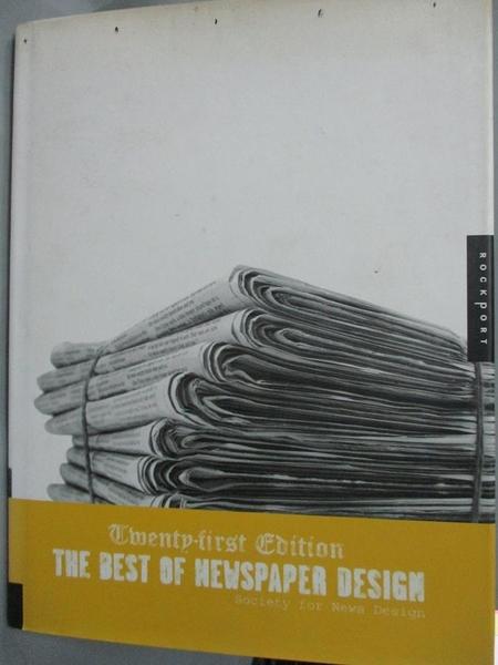 【書寶二手書T5/設計_QIF】The Best of Newspaper Design_Society of News