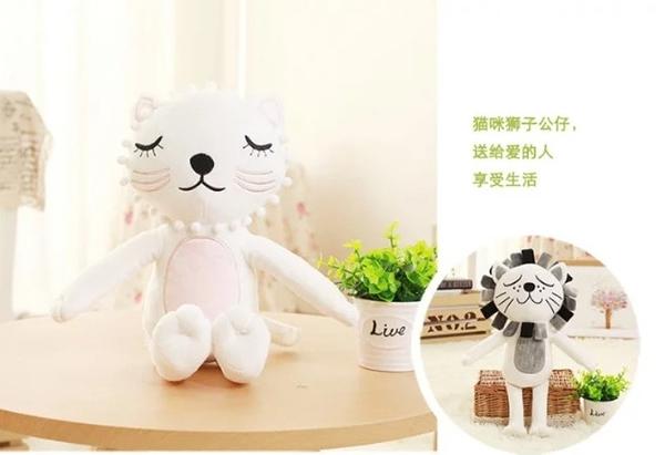 【2款】可愛動物系列 獅子 貓咪 安撫玩偶 絨毛娃娃 聖誕節交換禮物 餐廳布置 生日禮物