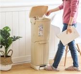 日系抗菌廚房雙層分類大號垃圾桶客廳家用塑料創意腳踏有蓋垃圾筒QM 依凡卡時尚