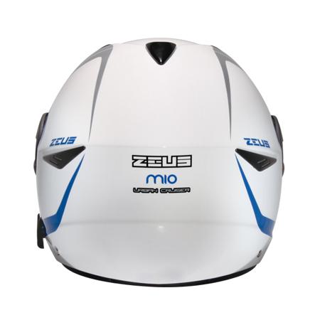 【東門城】ZEUS ZS612A AD4 (白藍) 半罩式安全帽 雙鏡片