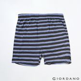 【GIORDANO】男裝高品味沈穩條紋配色四角褲-88 黑/紫