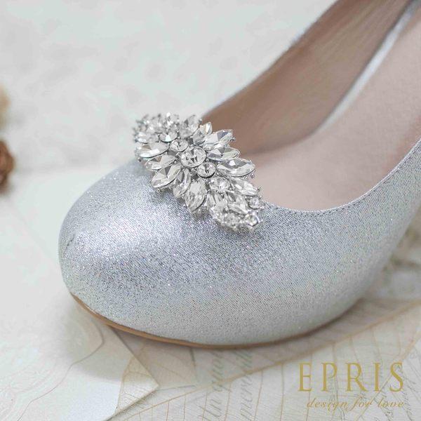 大菱形水鑽鞋夾配飾