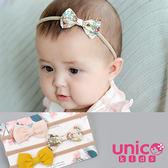 UNICO 兒童 寶寶款 歐美透氣麻棉彈力無痕小巧髮帶/髮飾-3入組