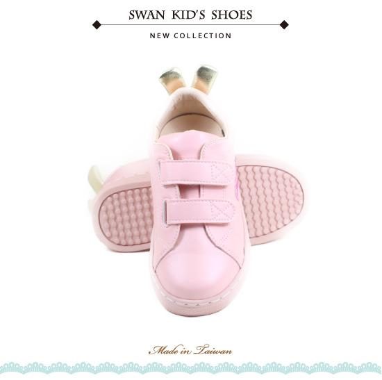 Swan天鵝童鞋-兔子小耳朵中童休閒鞋3863-粉
