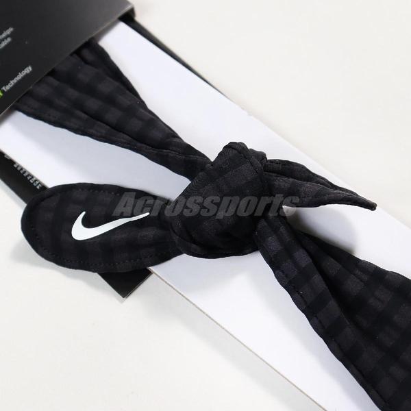 Nike 頭帶 Head Tie Skinny 黑 白 女款 髮帶 運動休閒【ACS】 N100215201-0OS