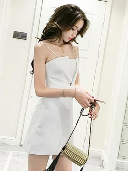 抹胸洋裝 夏天裙子2021新款女裝氣質心機甜美吊帶連身裙包臀裙夜場抹胸裙子 韓國時尚週